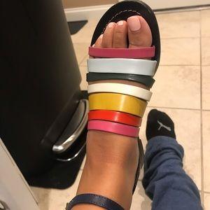 TORY BURCH Rainbow Strappy Sandals